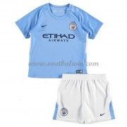 Manchester City Voetbaltenue Kind 2017-18 Thuisshirt